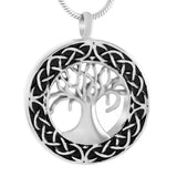 Celtic Tree of Life Urn Necklace - Cremation Jewelry Memorial Keepsake Pendant - Funnel Kit Included - Johnston's Cremation Jewelry - 1