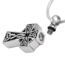 Celtic Cross Urn Necklace for Ashes - Cremation Memorial Keepsake Pendant - Johnston's Cremation Jewelry - 2