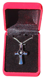 Cross Memorial Urn Necklace for Ashes - Cremation Keepsake Pendant - Johnston's Cremation Jewelry - 4