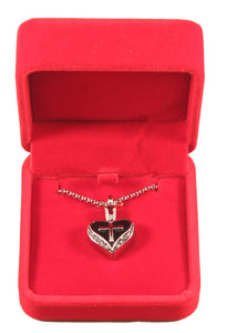 Heart and Cross Urn Necklace for Ashes - Cremation Memorial Keepsake Pendant - Johnston's Cremation Jewelry - 4