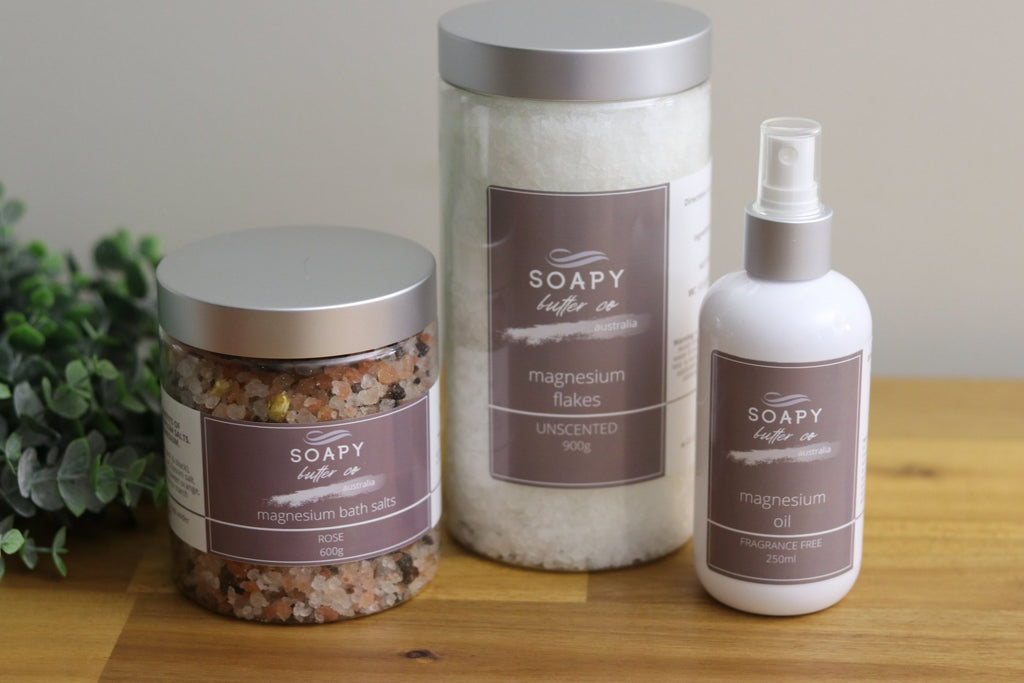 Soapy Butter Co Melbourne natural magnesium products oil salts flakes