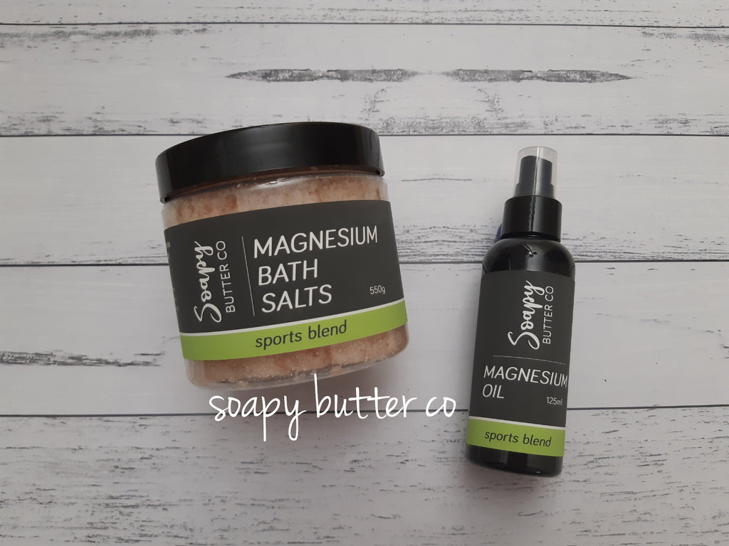 Magnesium Oil Bath Salts Sports Recovery Soapy Butter Co