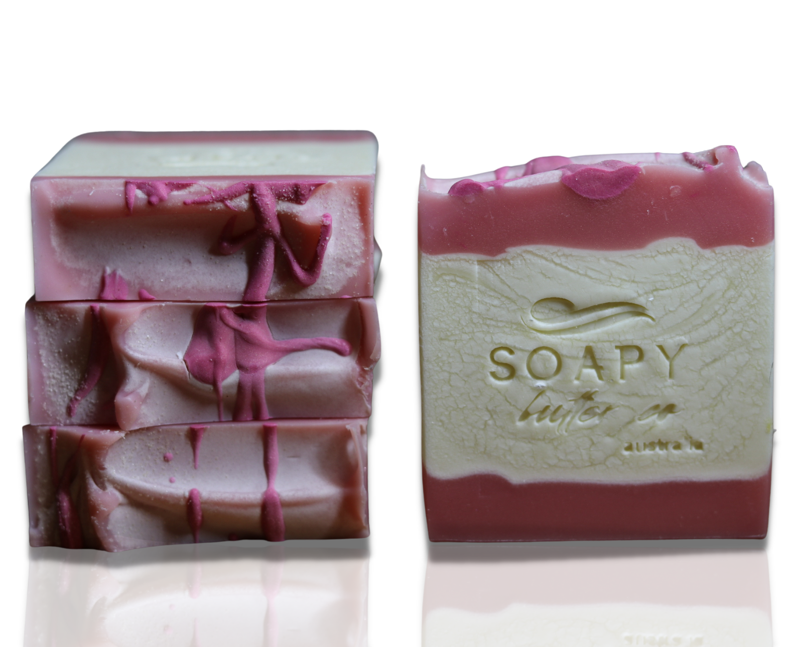 Soapy Butter Co rose quartz handmade soap