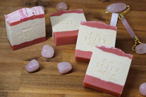 Soapy Butter Co Melbourne rose quartz handmade soap