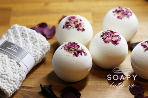 Soapy Butter Co naatural essential oil bath bombs