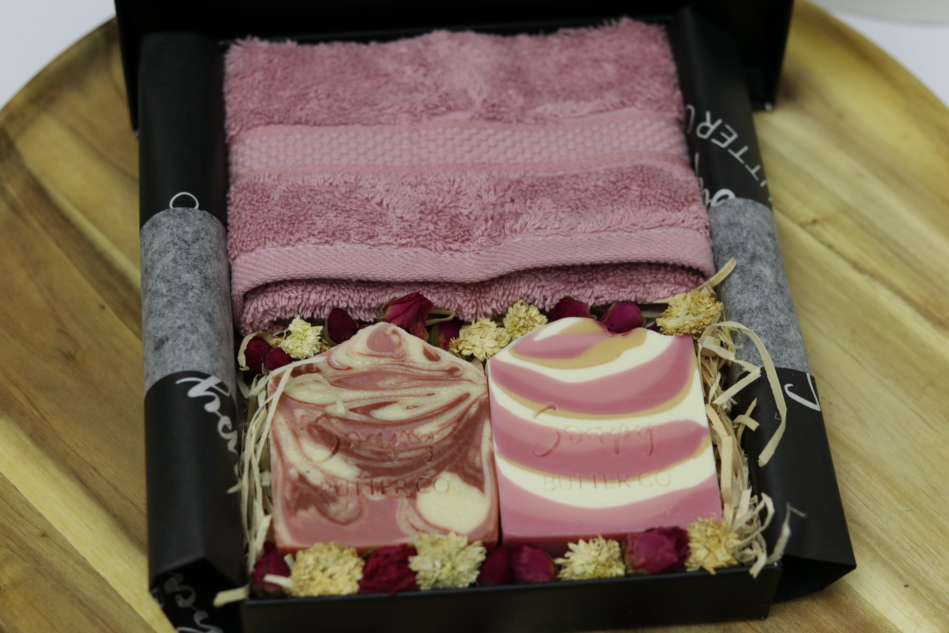 Soapy Butter Co Melbourne Soap Gift Pack with Pink Flannel