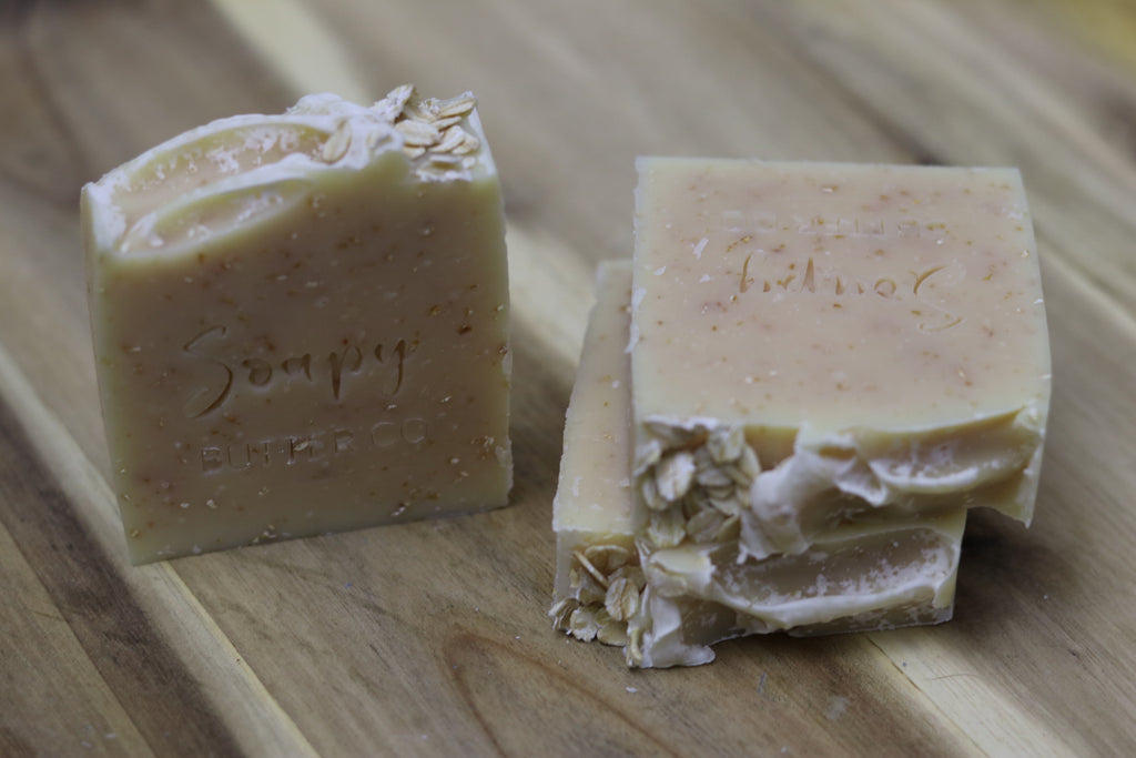 Soapy Butter Co Melbourne honey oatmeal handmade natural soap