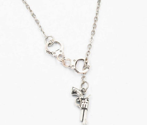 Image of Handcuffs Necklace by Cali Girl