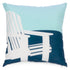 Coussin style camping, nautique, chalet