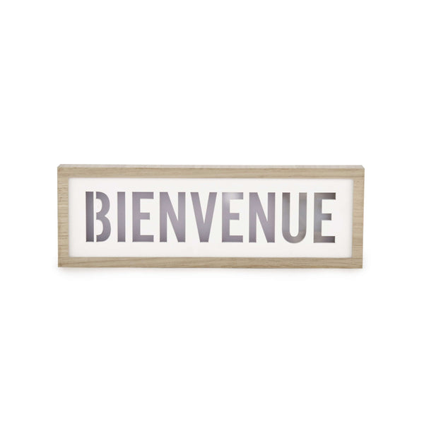 "LED ""Bienvenue"" Wall Plaque"