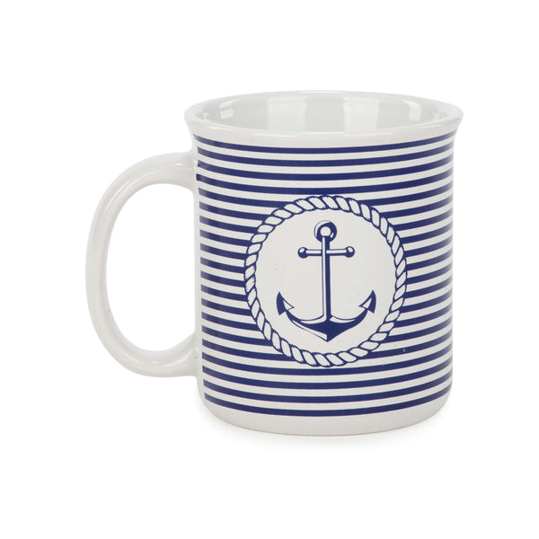 Blue & White Anchor Mug