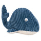 Blue and white whale decorative door stopper