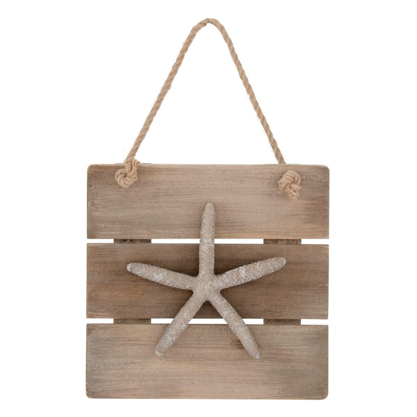 Starfish Wooden Hanging Plaque