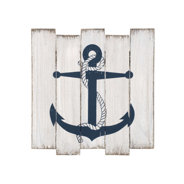 Blue anchor pattern wall plaque ***Only one left!!!***