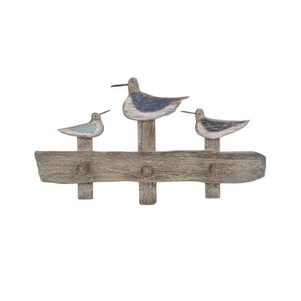 Snipe bird wall hook x3 in natural