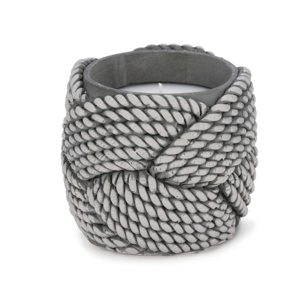 Grey weaved candle pattern