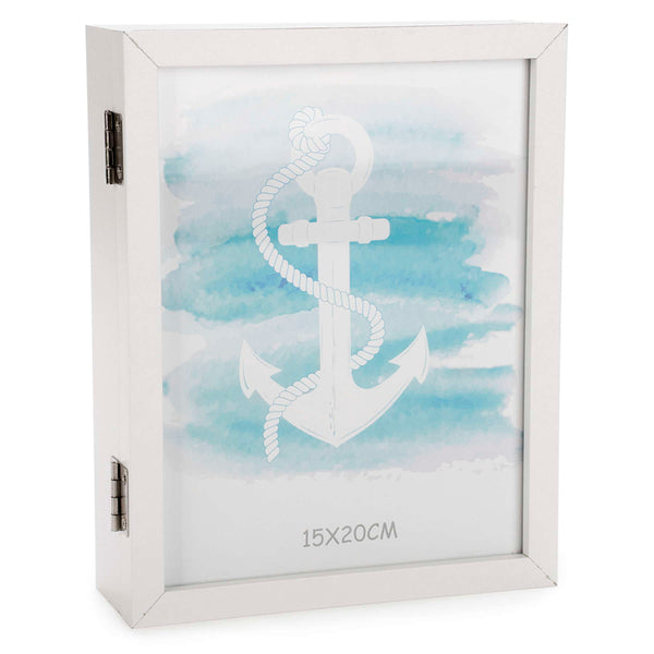 Anchor pattern key box with photo frame