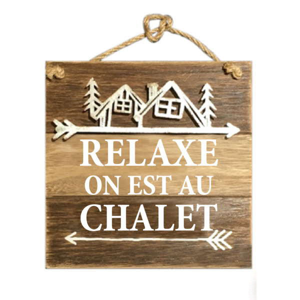 Au Chalet hanging plaque ***Only one left!!***
