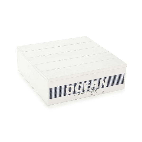 White and blue OCEAN storage box