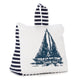 Navy blue & white sailboat door stopper