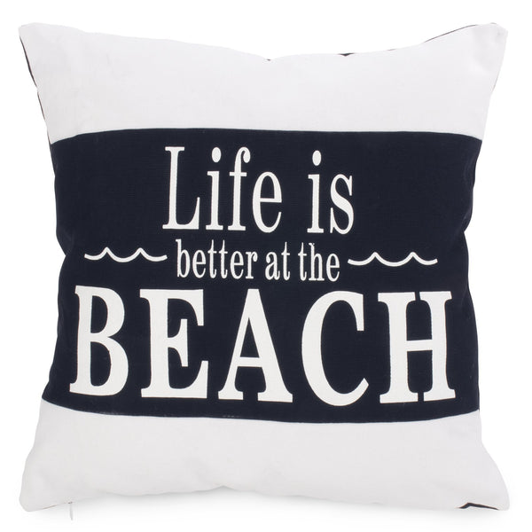 Navy and white nautical decor cushion