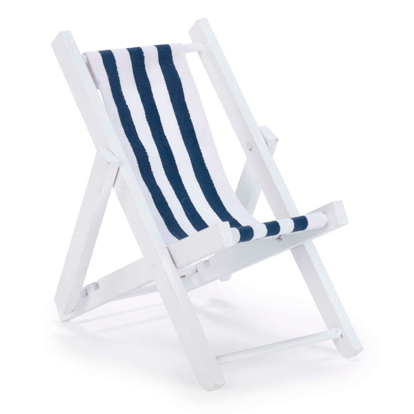 Decor beach chair in blue & white