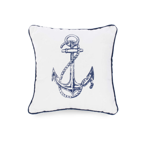 Blue Anchor pattern Cushion