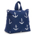 Navy blue door stopper with white anchor
