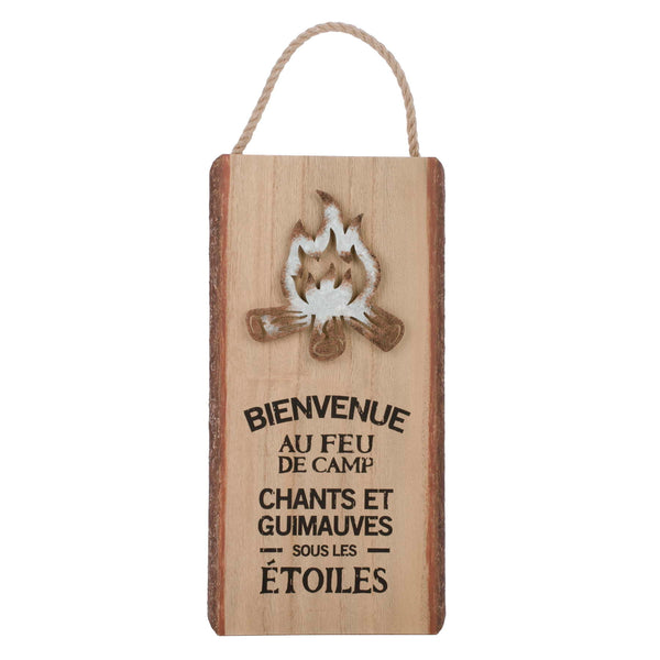 Feu de camp Camping hanging plaque