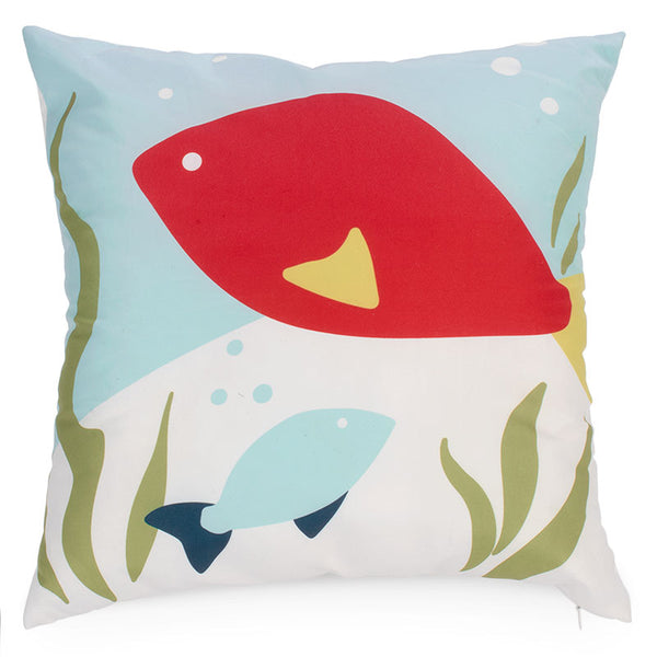 Nautical and fish style cushion.