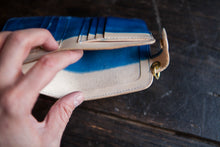 Indigo Dipped Vegtan Mid-Wallet Snap Bifold Version 2!