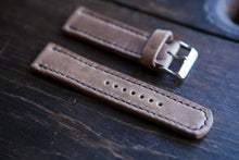 18 - 22mm Horween Natural Chromexcel (CXL) Watch Strap - Hand Stitched & Made to Order