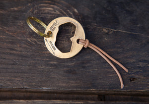 Recycled Brass Bottle Opener Keychain Version 2.0 - Cast in Los Angeles