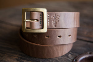35mm Natural Horween Chromexcel Japanese Garrison Belt