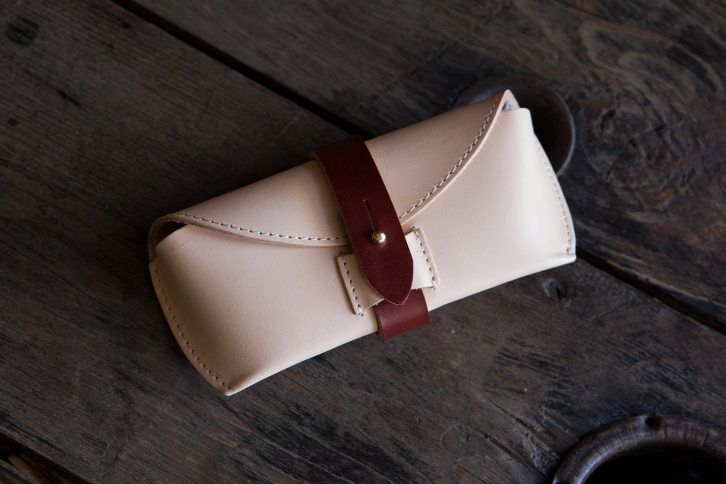 Natural Vegtan Leather Glasses Case