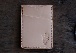 Natural Vegtan Minimalist Card Wallet
