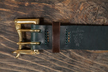 "Numbered Limited Edition 1.5"" Green & Brown Tärnsjö Double Prong Belt Tarnsjo"