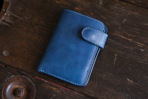 Solid Indigo Snap Wallet Version 2