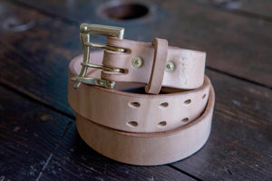 "1.5"" Natural Oak Bark JFJ English Bridle with Double Prong Quick Release Buckle *LIMITED*"
