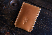 Vintage Indian Head Nickel Snap Hand-Stitched Shell Cordovan Card Wallet