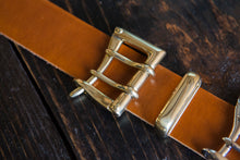 "1.5"" Brown Tärnsjö Swedish Vegetable Tanned Leather - Double or Single Prong Quick Release Belt - Brass, Nickel, Copper - Tarnsjo"