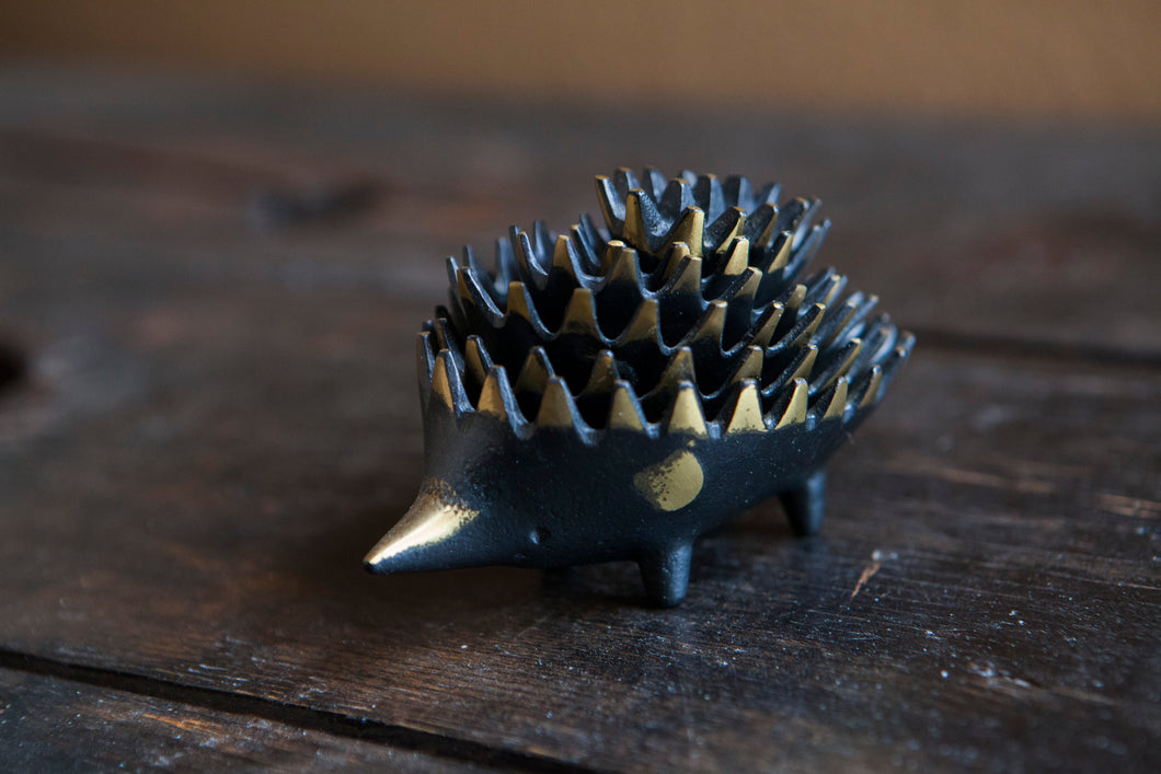 Walter Bosse Nesting Brass Hedgehog Ashtray #2