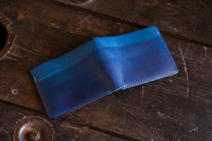 All Indigo Gradient Dipped Vegtan Bifold Wallet