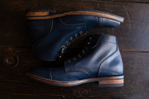 PTC X Santalum Collab #1 - The Indigo Dyed Service Boot ROUND DEUX