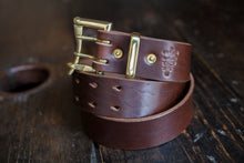 "1.5"" Double or Single Prong Quick Release Belt in Brown Horween Chromexcel - Brass, Copper or Nickel"