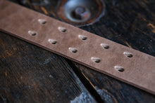"1.5"" Double or Single Prong Quick Release Belt in Natural Horween Chromexcel - Brass, Copper or Nickel"