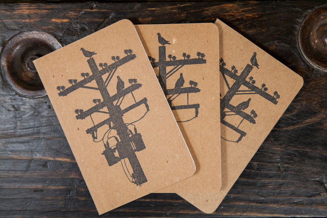 Pigeon Tree Crafting Recycled Notepads Field Notes Size 3.5