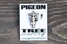 Pigeon Tree Crafting Pin- White and Black Nickel- Telephone Pole Pin Los Angeles Pingame