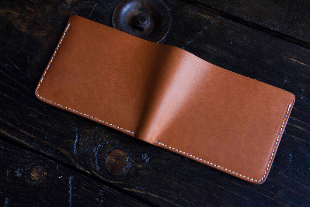 Sun-Soaked Natural Vegetable Tanned Leather Bifold