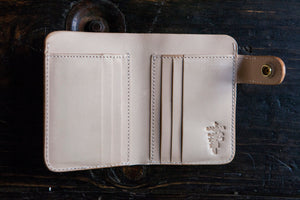 Natural Vegetable Tanned Vegtan Mid-Wallet Snap Bifold